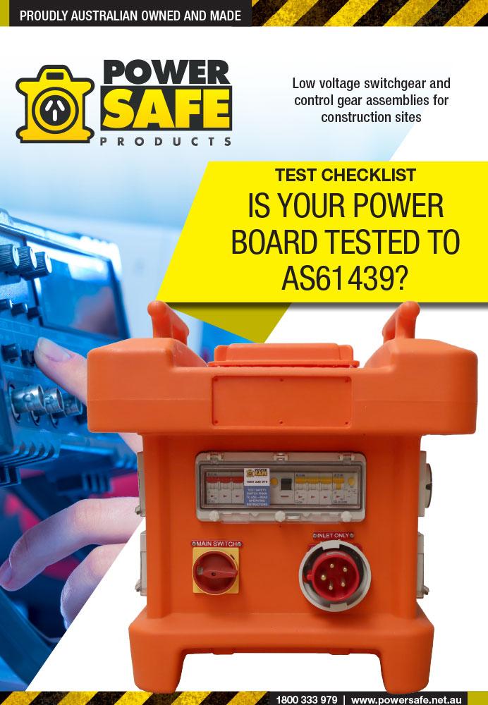 AS61439 Testing Checklist